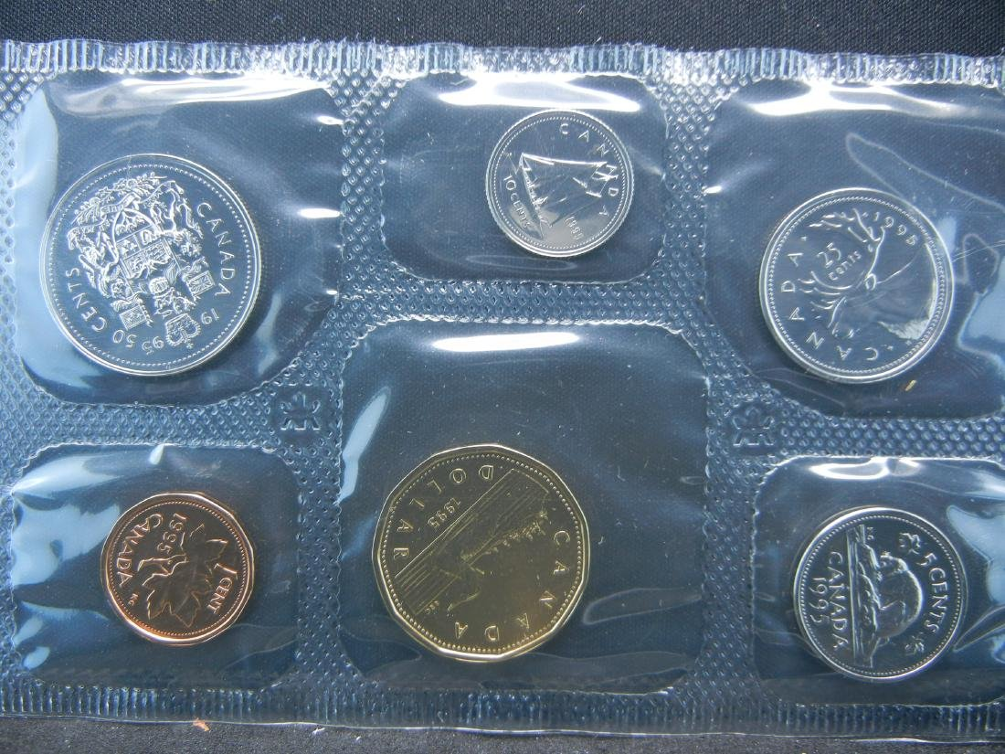 1987 1995 Royal Canadian Mint Sets with all Original - 2