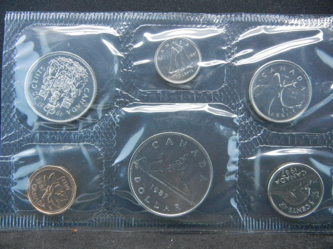 1987 1995 Royal Canadian Mint Sets with all Original - 5
