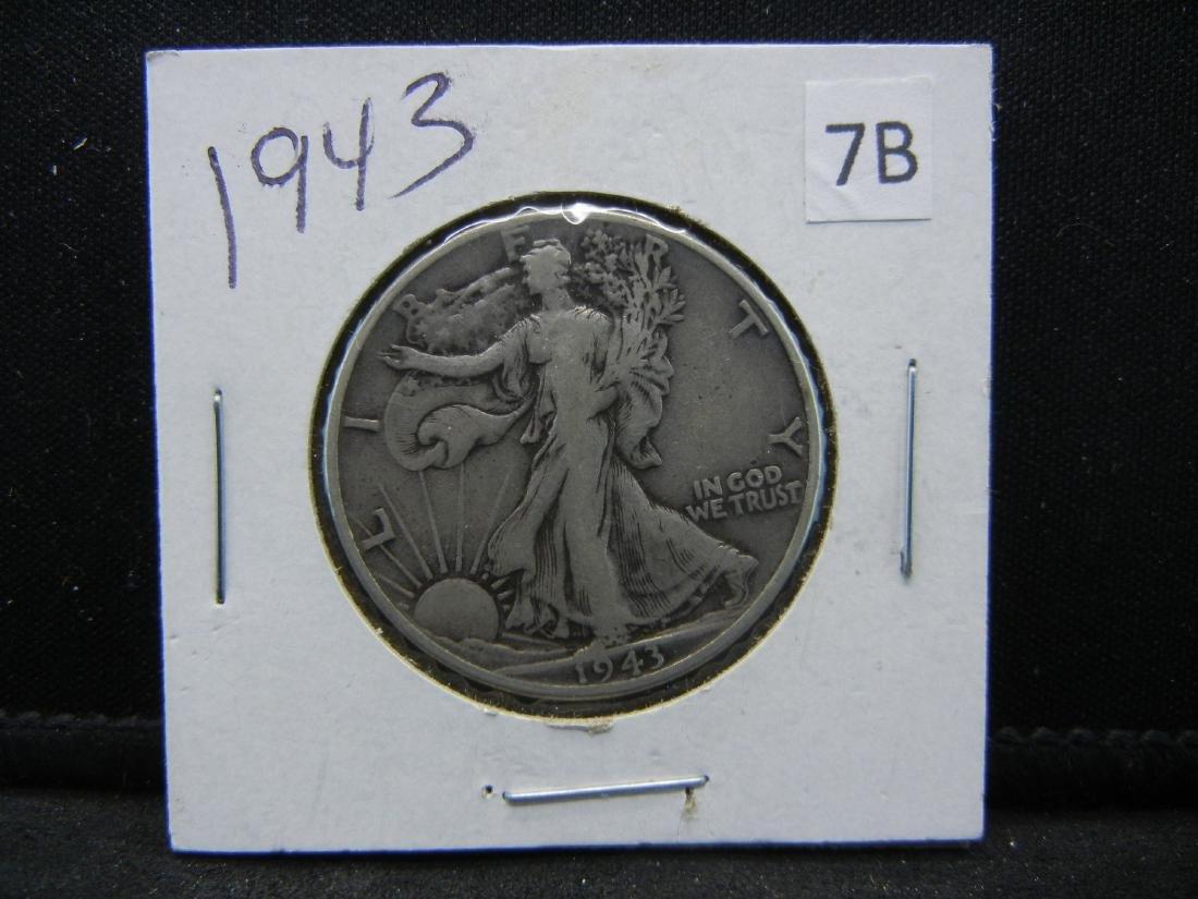 1943 Walking Liberty Half Dollar - 3