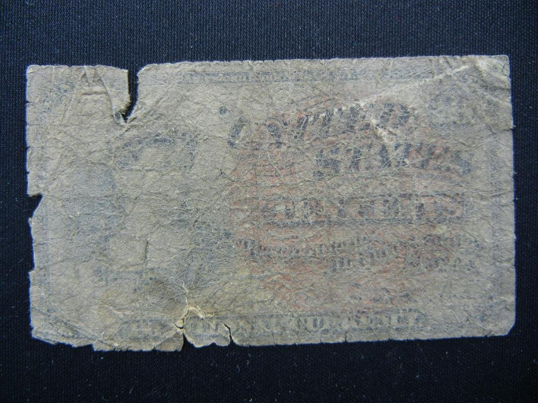 1863 CIVIL WAR Fractional US currency. 10 cents.