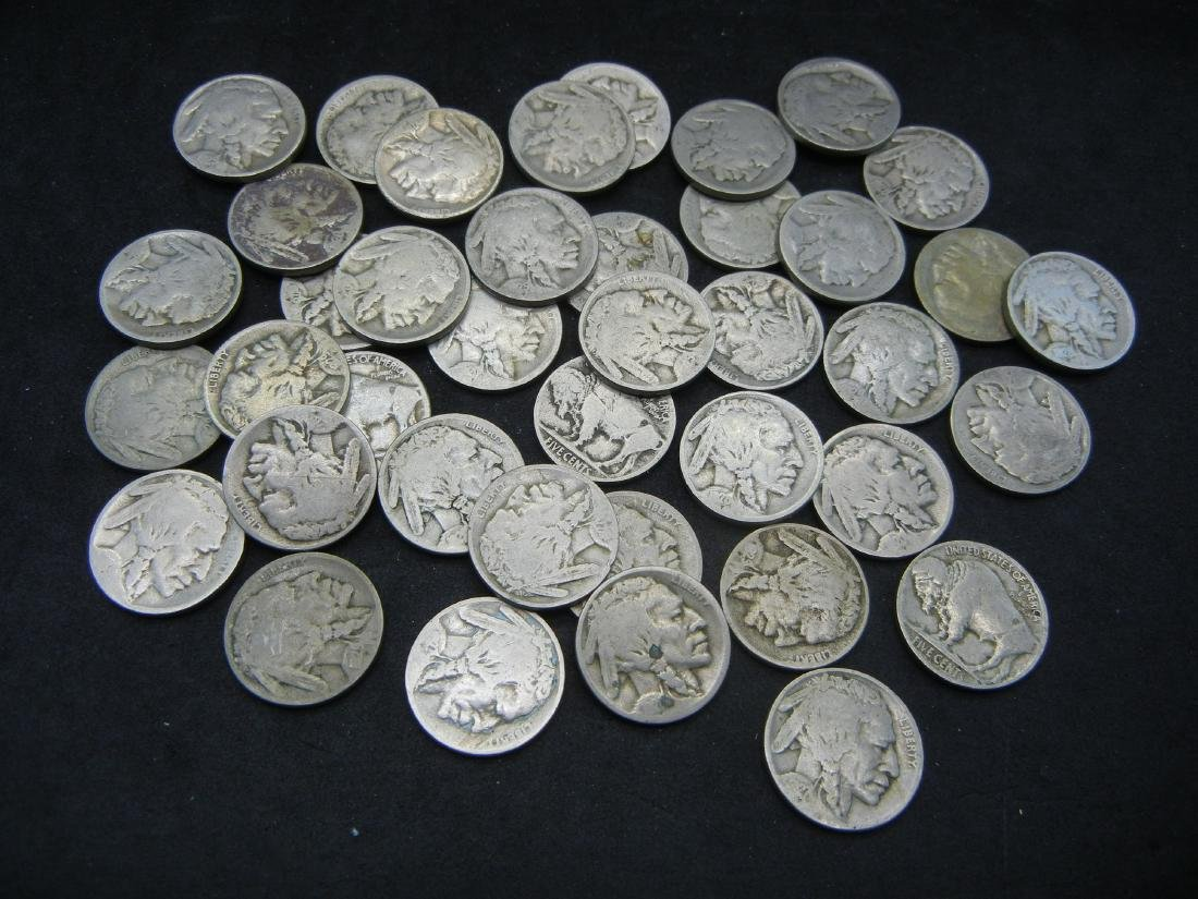 Roll of 40 Partial Date Buffalo Nickels.