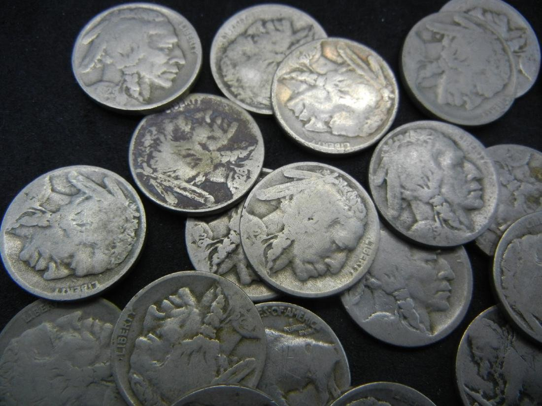 Roll of 40 Partial Date Buffalo Nickels. - 3