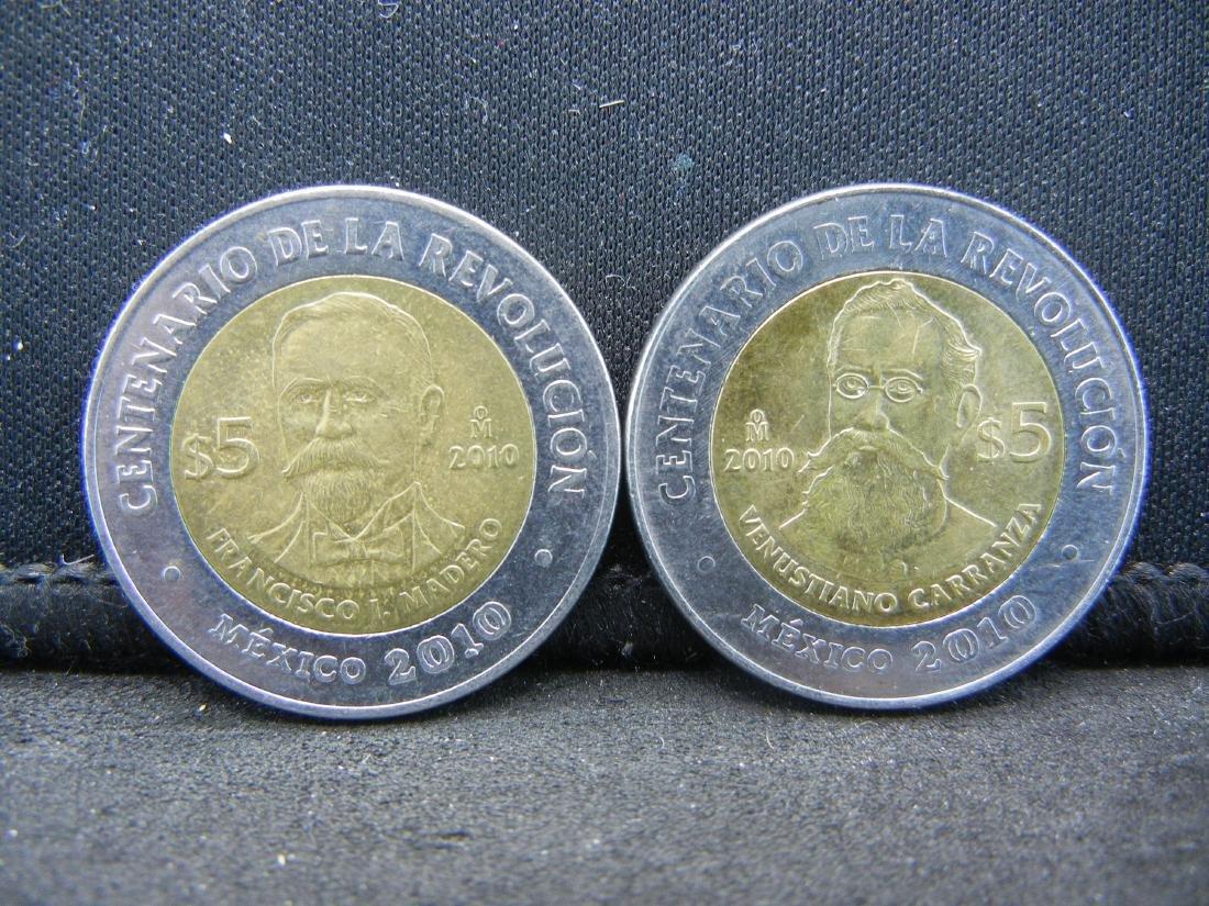 2010 5 Peso Venustiano Carranza &  Francisco Madero