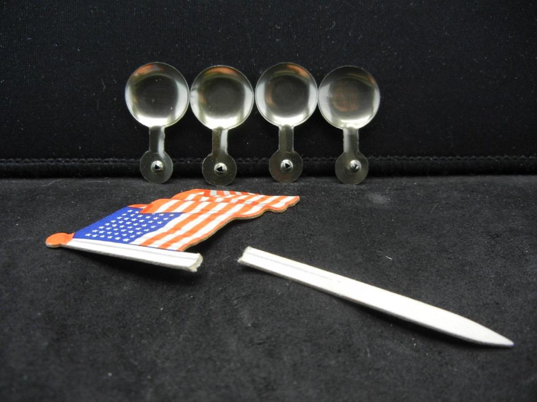 1952 I Like Ike pins and American flag - 2