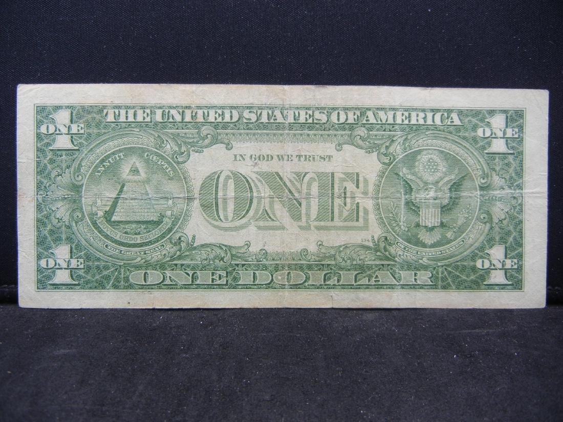 1957 $1 Star Note Blue Seal Silver Certificate.  Serial - 3