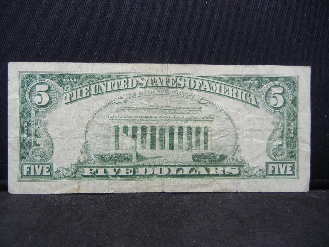 1963 $5 Red Seal United States Note. Serial # - 3