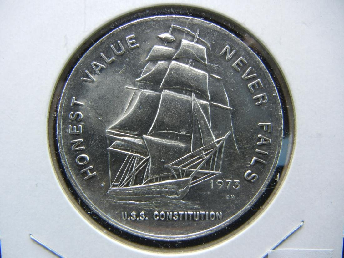 USS Constitution 1 ounce pure silver 999. PROOFLIKE!
