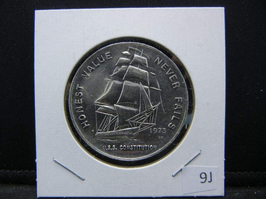 USS Constitution 1 ounce pure silver 999. PROOFLIKE! - 3