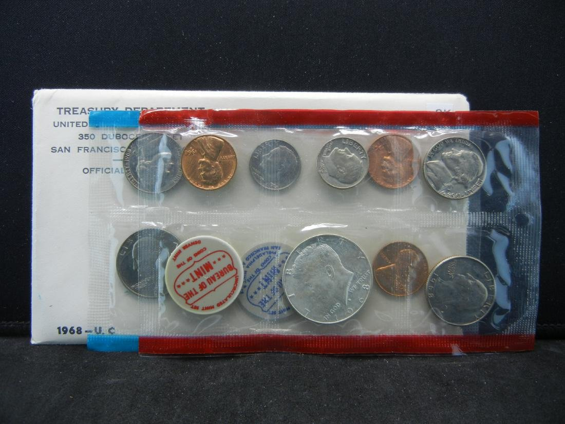 1968 United States Mint Set With Original Packaging.