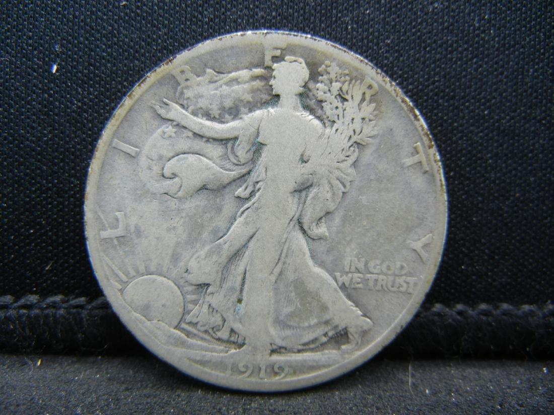 1919-D Walking Liberty Half Dollar