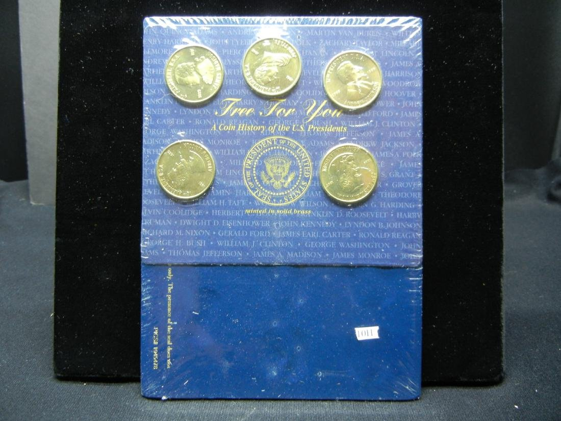 A coin history of US Presidents. BU. Gas Station