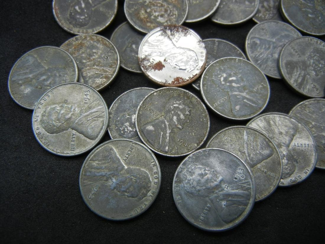 "Roll of 50-1943 Steel Cents, ""Wartime Emergency"
