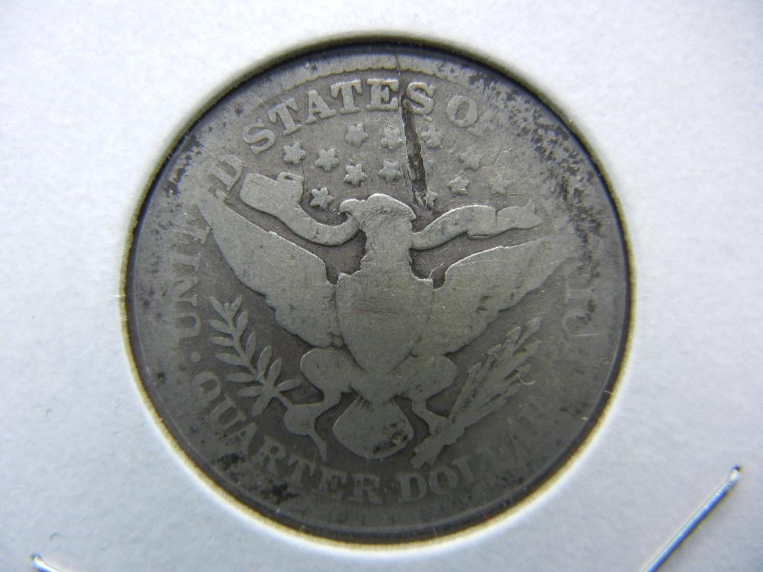 1899 Barber Quarter. LAMINATION! RARE!