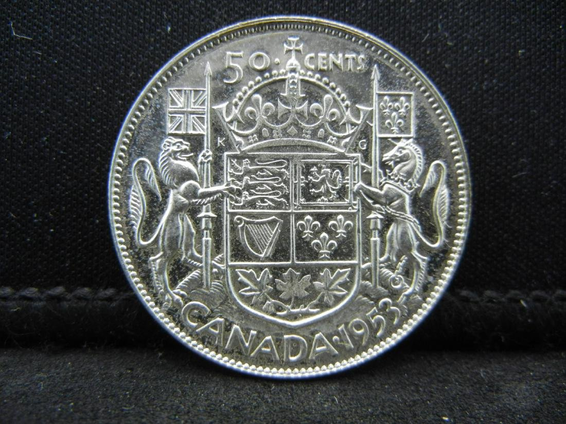 1953 Canada 50 Cents Brilliant Uncirculated 80% Silver