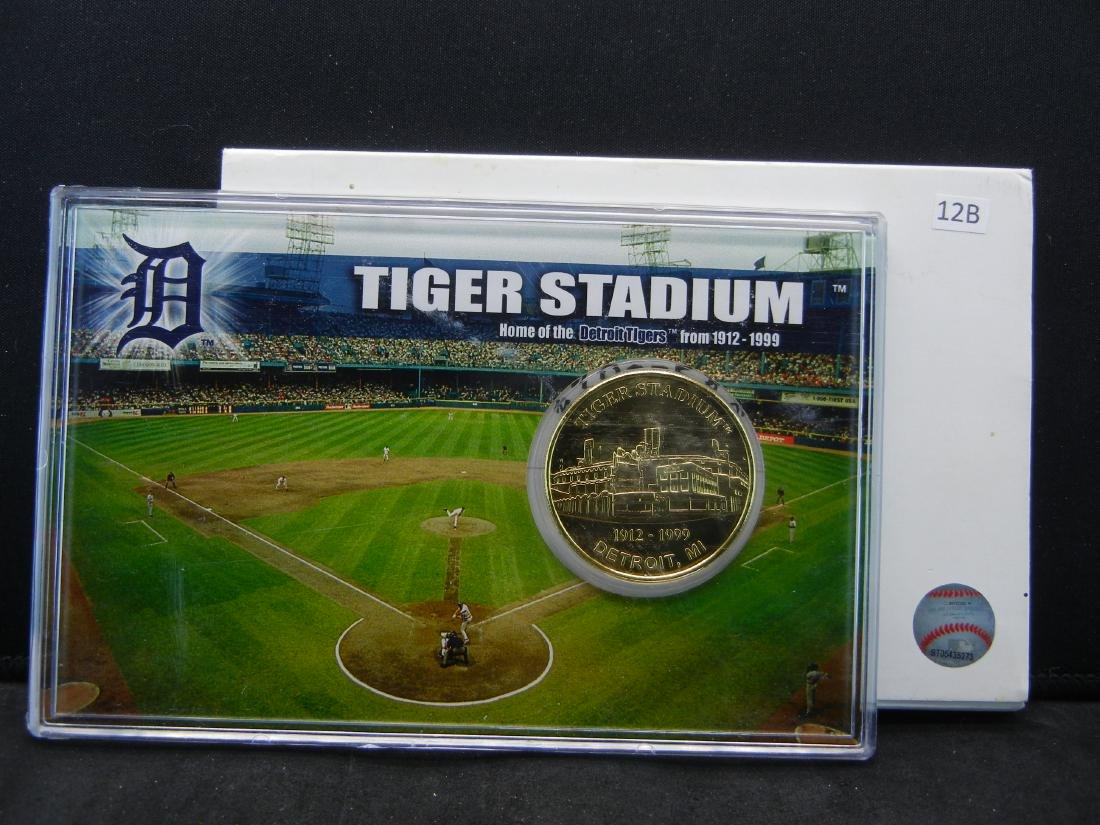 Limited Edition 1999 Tiger Stadium 24 KT Gold Flashed