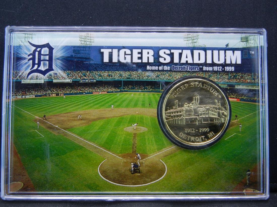 Limited Edition 1999 Tiger Stadium 24 KT Gold Flashed - 2