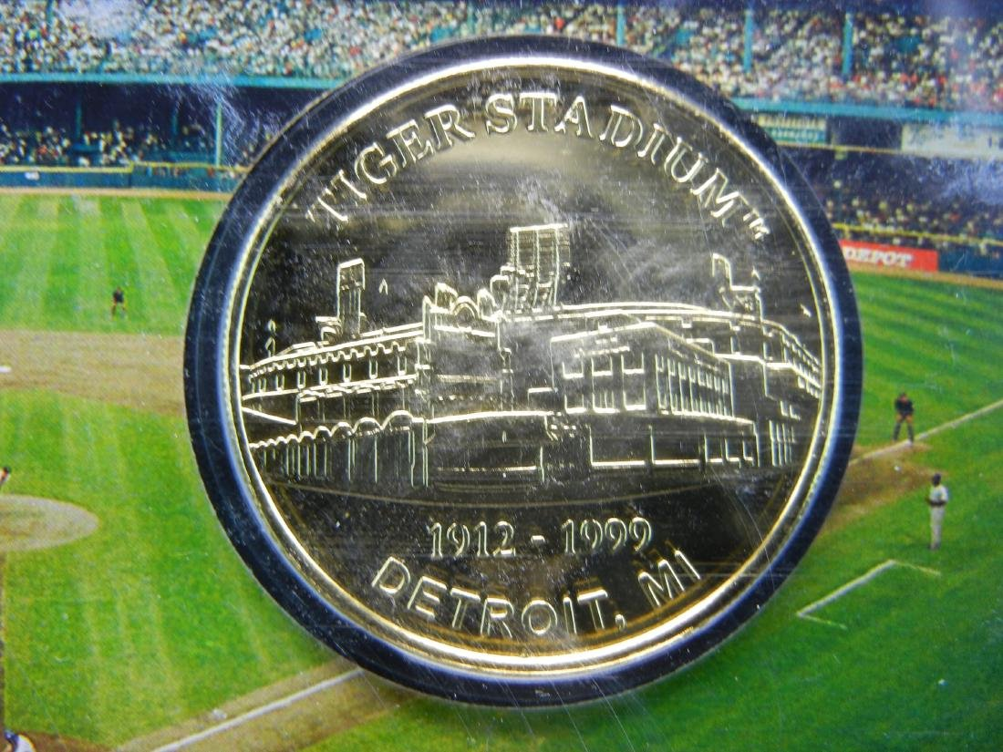 Limited Edition 1999 Tiger Stadium 24 KT Gold Flashed - 3