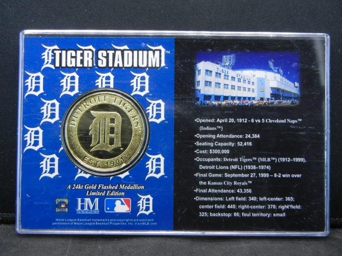 Limited Edition 1999 Tiger Stadium 24 KT Gold Flashed - 5