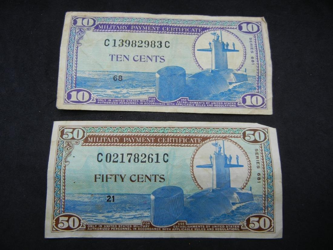 1968 Vietnam Military Payment Certs. 10C, 50C.