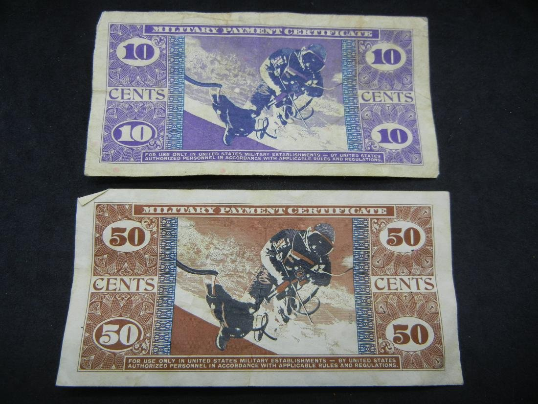 1968 Vietnam Military Payment Certs. 10C, 50C. - 4
