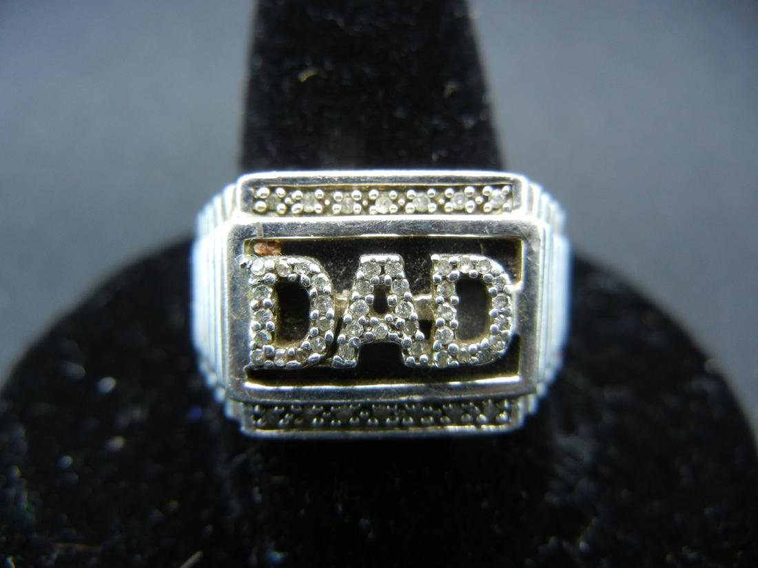 Sterling Silver 925 DAD Ring with DIAMONDS! Who is the