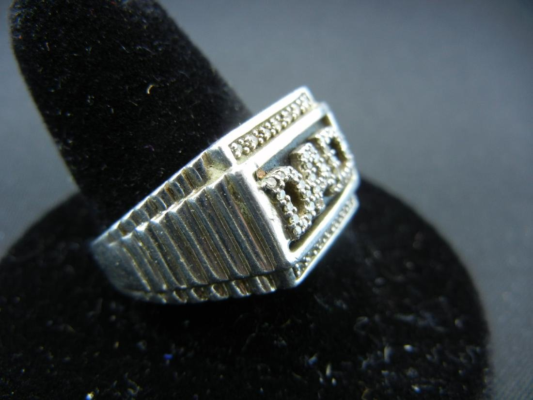 Sterling Silver 925 DAD Ring with DIAMONDS! Who is the - 2