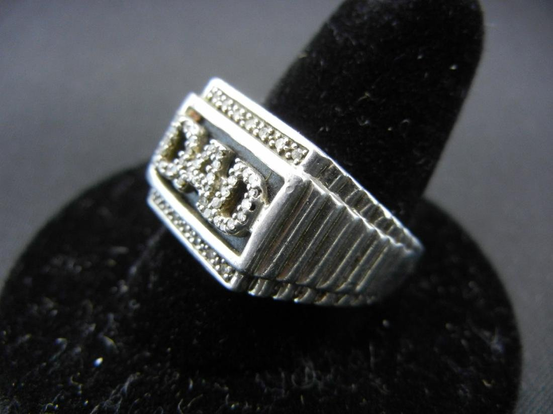 Sterling Silver 925 DAD Ring with DIAMONDS! Who is the - 3