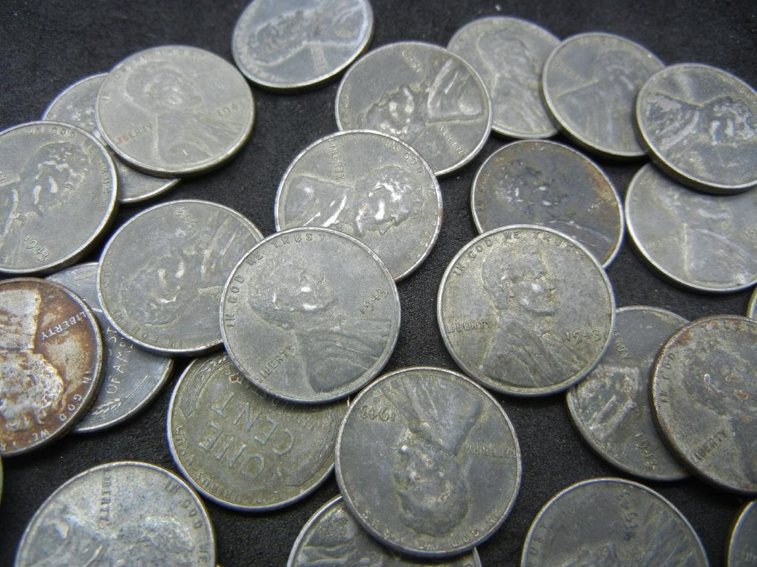 Roll of Unsorted STEEL cents. WOW! - 3