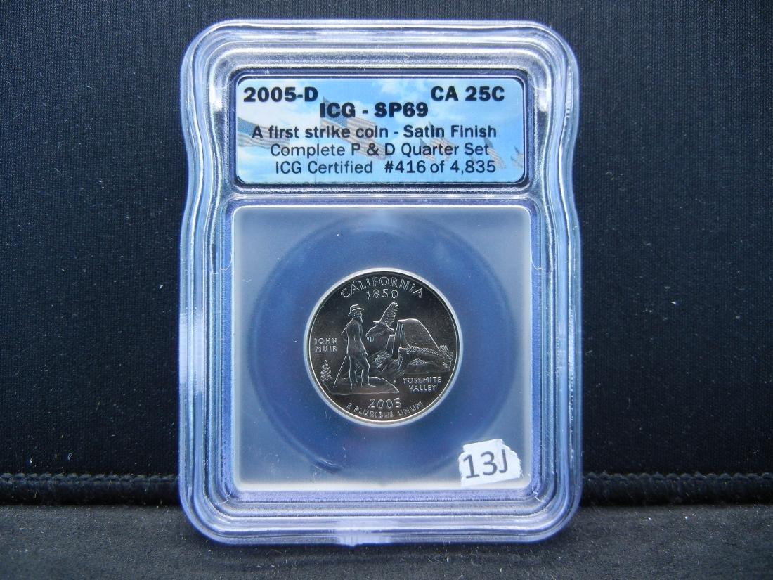 2005-D CALIFORNIA First Strike Quarter. Graded Special