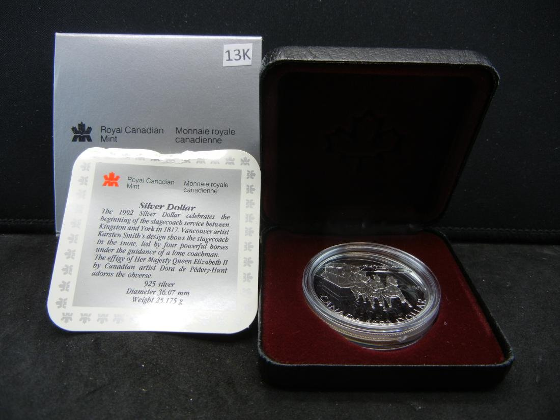"1992 Canadian ""Stagecoach"" Proof Sterling (92.5%)"
