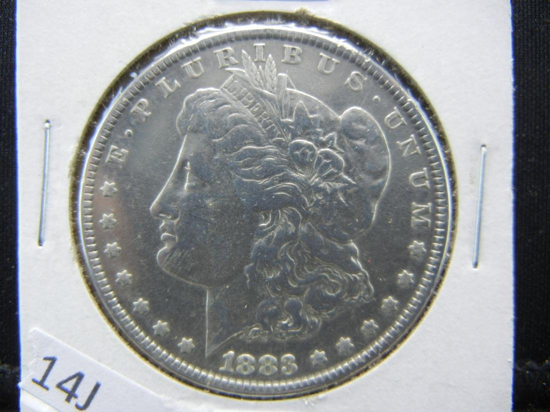 1883 Morgan Dollar. Prooflike qualities. WOW!