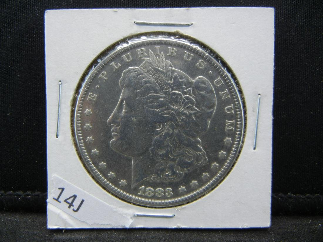 1883 Morgan Dollar. Prooflike qualities. WOW! - 3