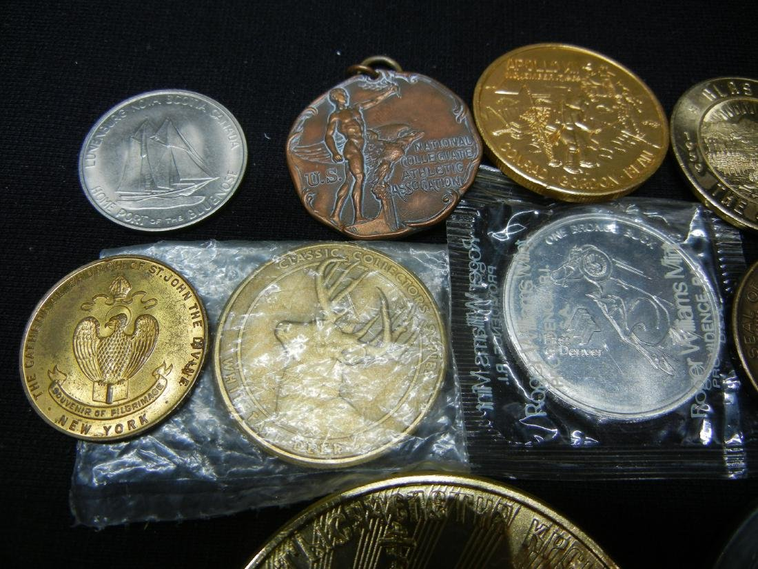 Group of 20 Crown Sized Medals and Tokens. - 2
