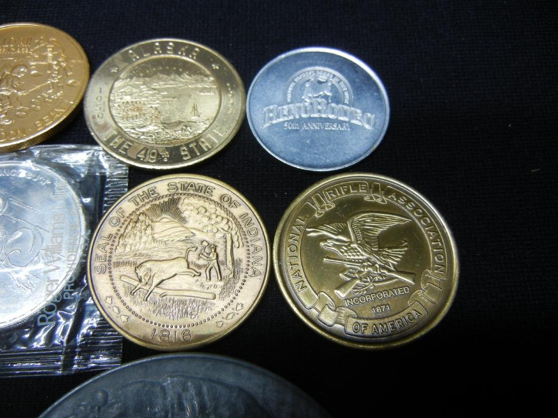 Group of 20 Crown Sized Medals and Tokens. - 3