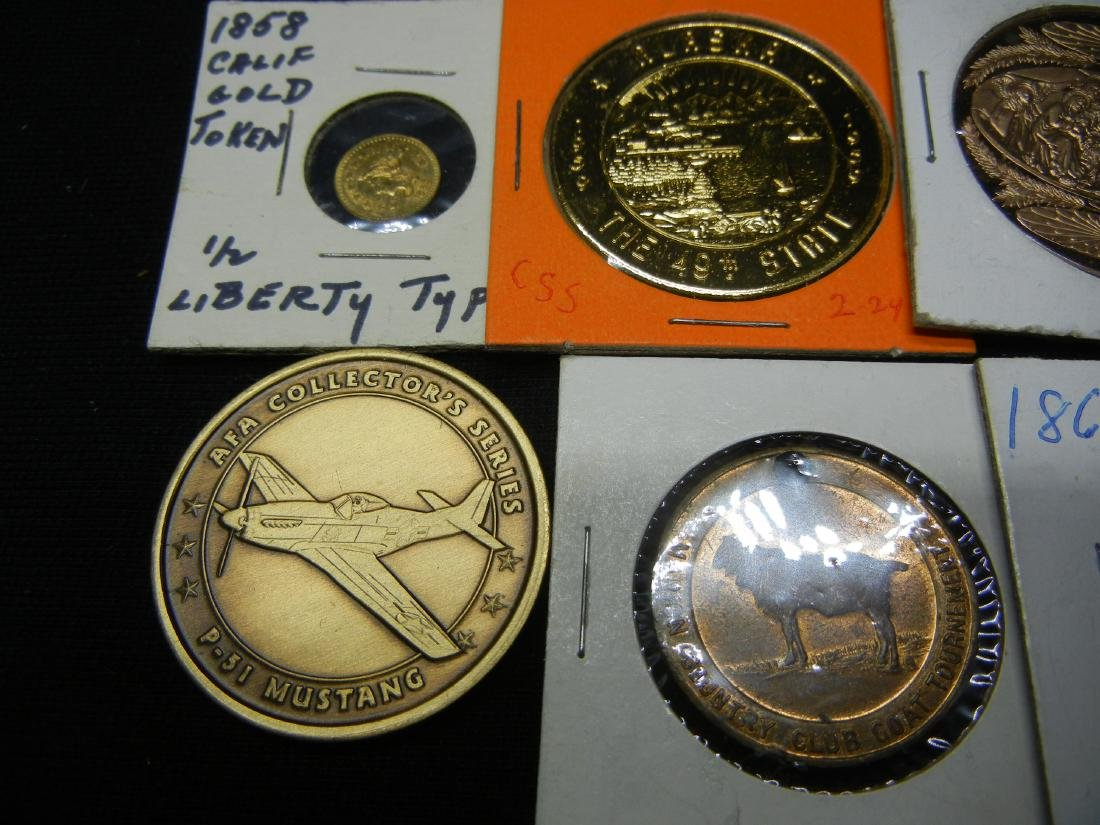 Group of 20 Crown Sized Medals and Tokens. - 5