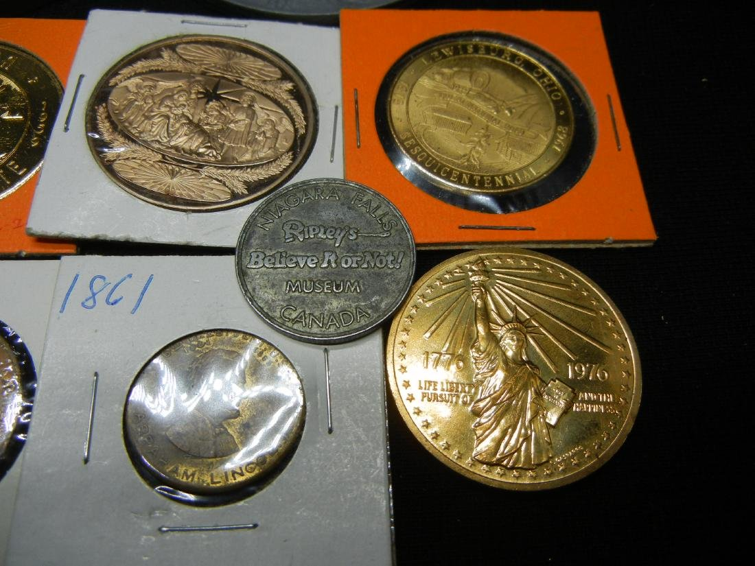 Group of 20 Crown Sized Medals and Tokens. - 6