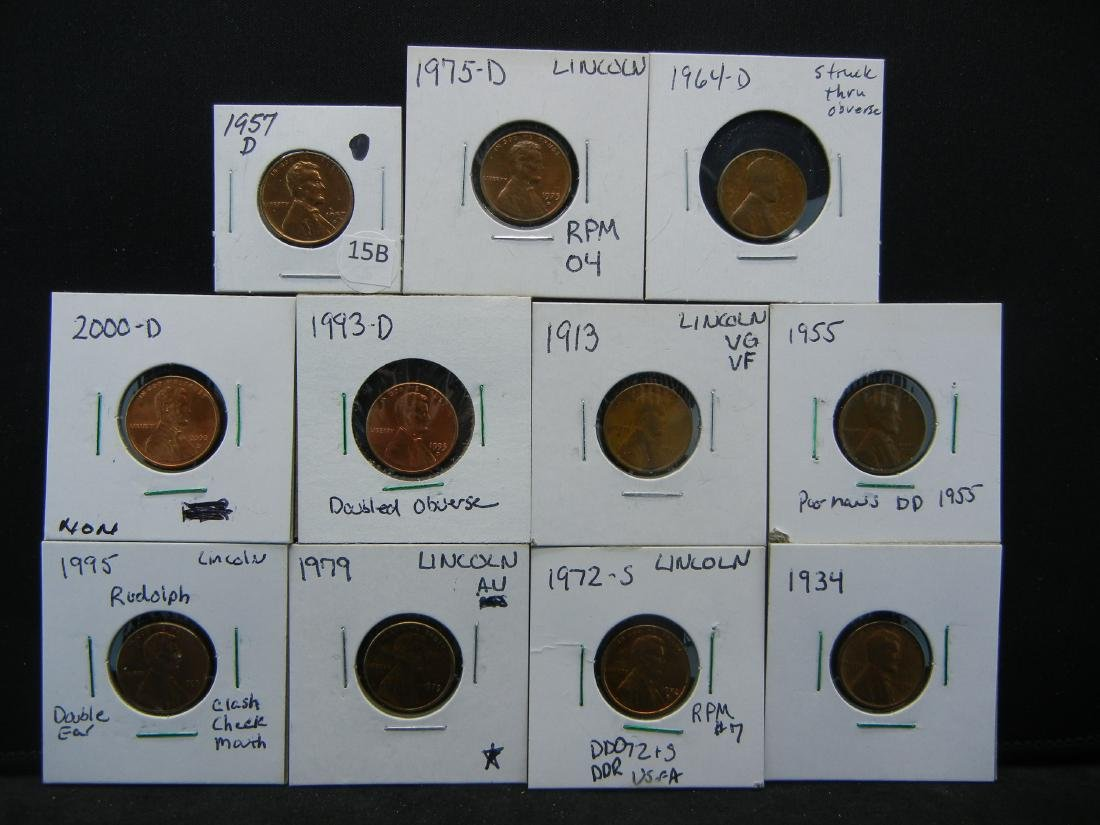 11 Lincoln Cent Error Coins