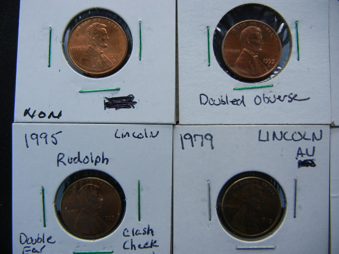 11 Lincoln Cent Error Coins - 4