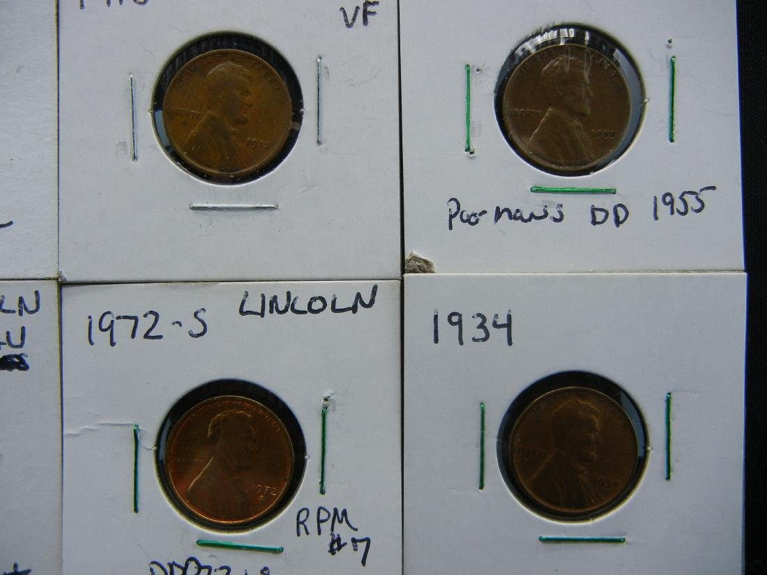 11 Lincoln Cent Error Coins - 5