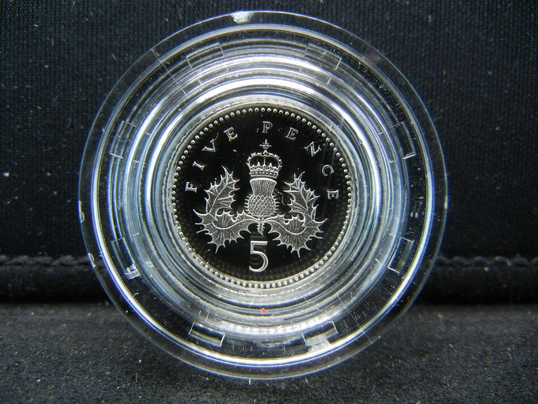 1990 Great Britain SILVER Piedfort 5 pence Proof. Royal - 2