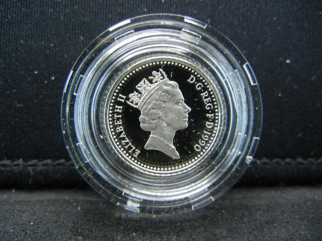 1990 Great Britain SILVER Piedfort 5 pence Proof. Royal - 3
