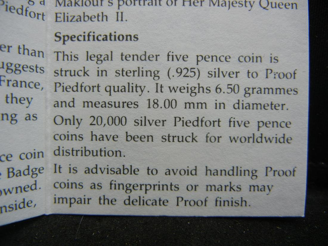 1990 Great Britain SILVER Piedfort 5 pence Proof. Royal - 4
