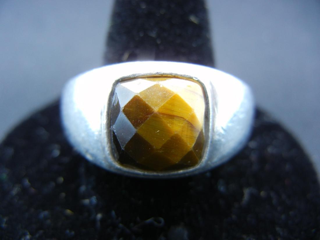 Sterling Silver Tigers Eye Men's Ring.