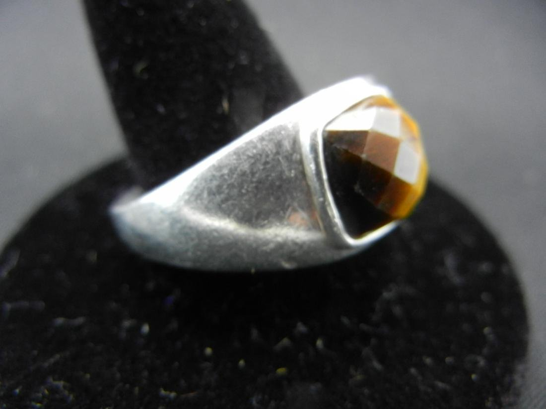 Sterling Silver Tigers Eye Men's Ring. - 2