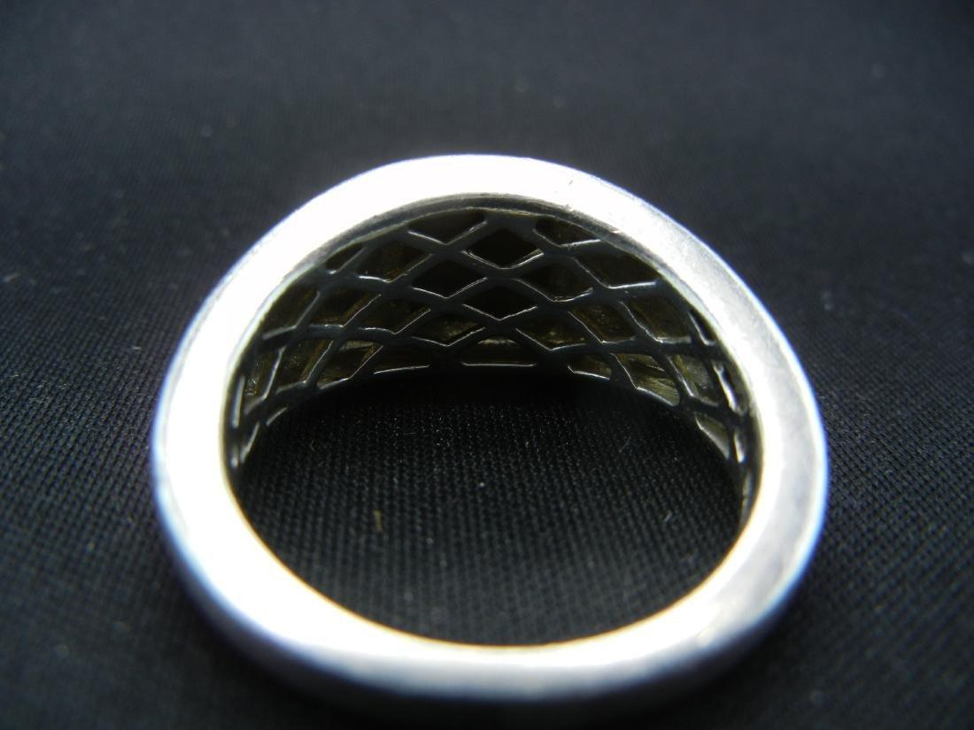 Sterling Silver Tigers Eye Men's Ring. - 5
