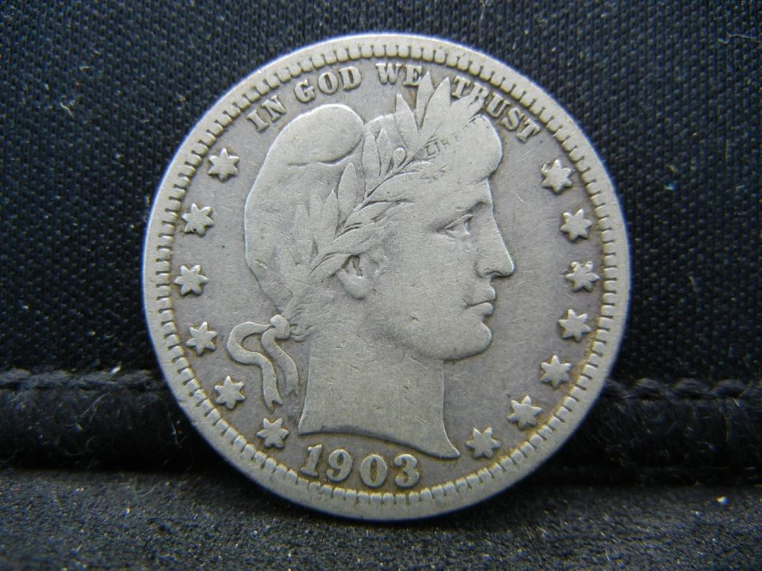 1903 Barber Quarter, Readible Liberty, Fine or Better