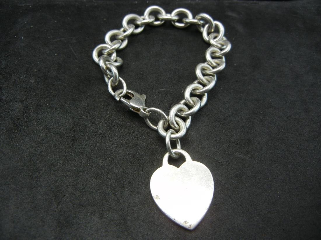 Tiffany&Co925 Heart Bracelet. Sterling 925 silver!