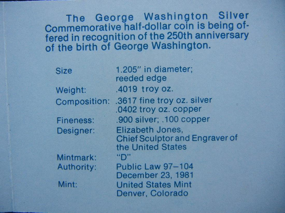1982-D George Washington 250th Anniversary of Birth - 4
