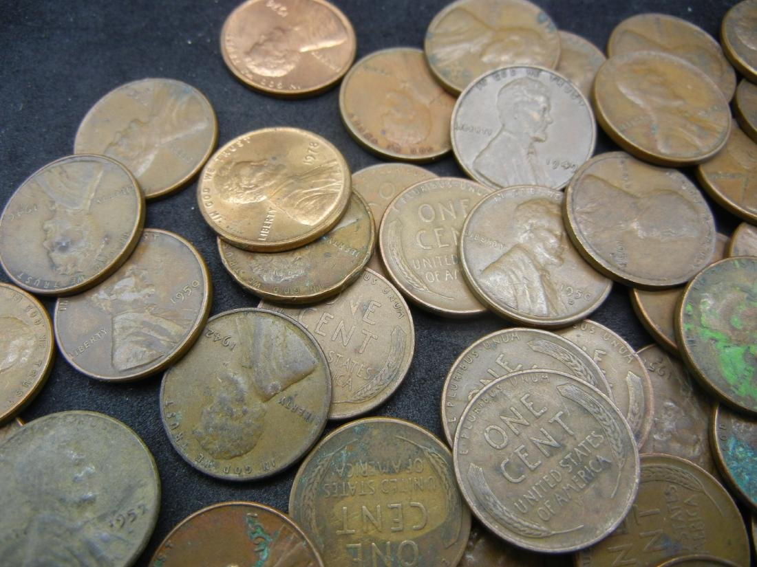 Lot of Mixed date Lincoln Memorial and Wheat Cents. - 3