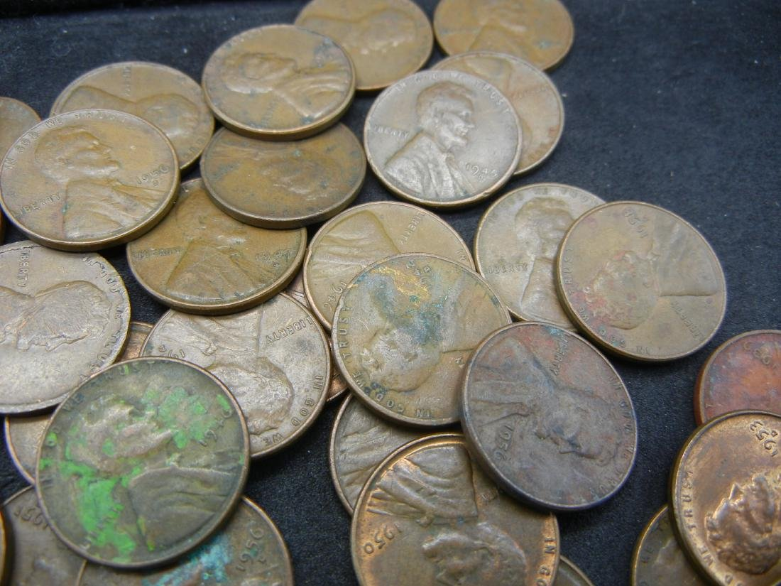 Lot of Mixed date Lincoln Memorial and Wheat Cents. - 4